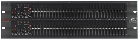 DBX 2231 Dual 31-Band Graphic Equalizer with Type III Noise Reduction