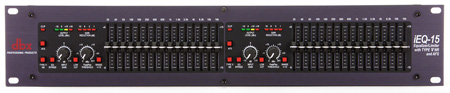 DBX IEQ15 Dual 15-Band Graphic Equalizer 2/3 Octave 2 RU