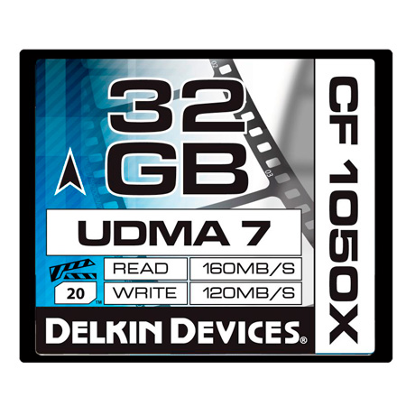 Delkin DDCF1050-32GB 32GB CF1050X Cinema CompactFlash Memory Card
