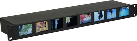 Delvcam DELV-8LCD-SDI OctoMon 3G-SDI 8-Panel LCD 1RU Rackmount Video Monitor