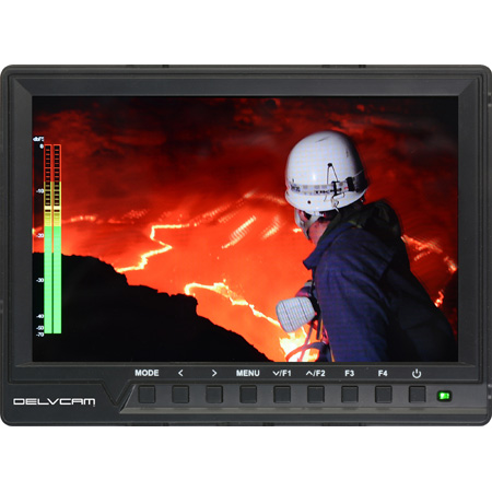Delvcam DELV-HD7-4K 4K Compatible 1080P 7-Inch 1920x1200 Camera Top LCD Monitor with OSD Audio Metering