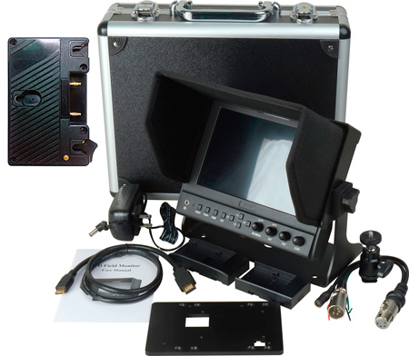 Delvcam 7in. Camera-Top SDI Monitor w/ Video Waveform and Anton Bauer Mount
