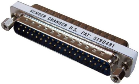 Slimline 37 Pin Gender Changer Male to Male