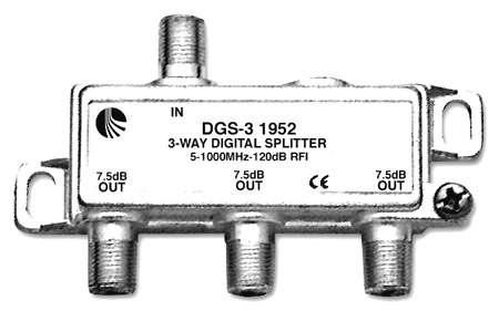 Blonder Tongue DGS-3 Digital Ready 5-1000 MHz 3-Way F Splitter