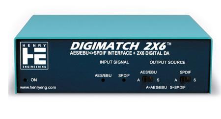 Henry Engineering DigiMatch 2x6 AES/EBU - SPDIF Interface & 2x6 Digital Audio DA