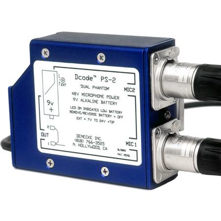 Denecke PS-2 Dual Channel 48v Phantom Microphone Power Supply