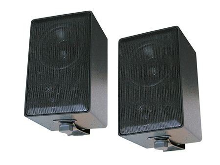 Speco Technologies DMS3P 3-Way All Weather Mini Speakers Pair Black