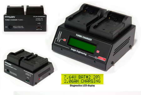 Dolgin TC200-EX-i-TDM Two-Position Battery Charger with TDM for Sony BP-U Series