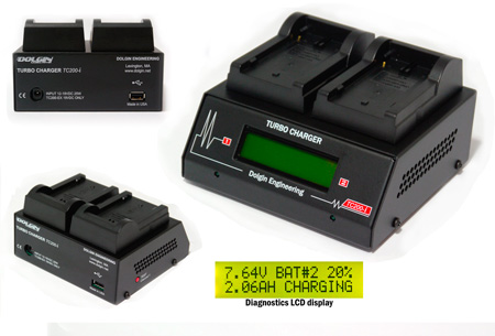 Dolgin TC200-SON-i-TDM Two-Position Battery Charger with TDM for Sony L-Series