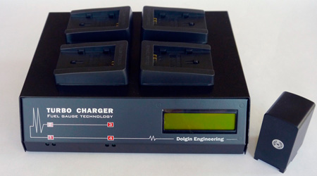 Dolgin TC400-CAN-LP-E8 4-Position Battery Charger - Canon EOS REBEL w/Diagnostic