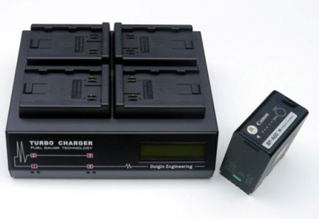 Dolgin TC400-CAN-A60 Fast Four Positions Simultaneous Battery Charger with Diagnostics Display Accepts Canon BP-A60/A30