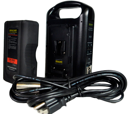 Dracast BK189S1DCH V-Mount Battery Charger Kit