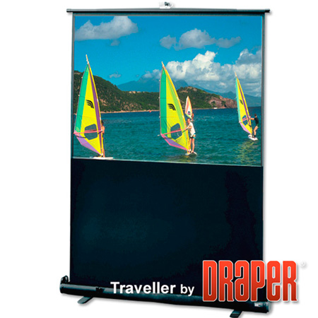 Draper 230117 16:9 HDTV Traveller 55in Diagonal Matte White