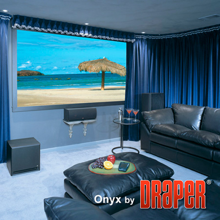 Draper 253784 Onyx 220 Inch Fixed Projection Screen