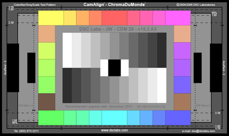 DSC Labs SRW19-CDM28 ChromaDuMonde 24-Plus-4 Video Test Chart - Senior 24 x 14.7