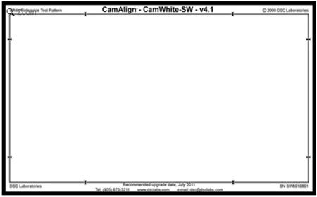 DSC Labs SRW8-CW CamWhite Senior CamAlign Chart - Senior 24 x 17