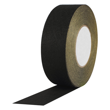 Black Polyester Felt with Acrylic Adhesive - 2 Inch x 25 Yds