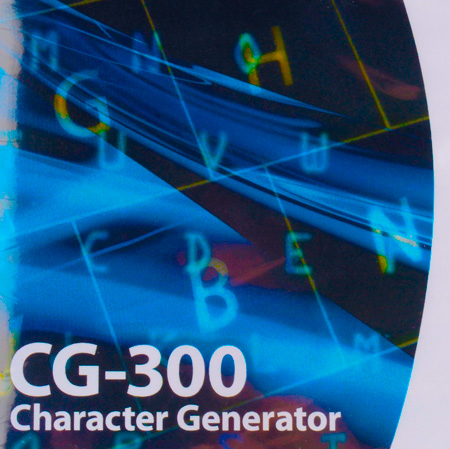 Datavideo CG-350 Character Generator Software for SD and HD