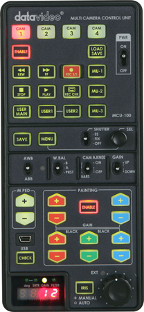 Datavideo MCU-100 Handheld Control Unit for up to 4 Sony Cameras