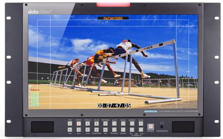Datavideo TLM-170PR 17 Inch LCD Monitor with HD/SD-SDI - HDMI - YUV & CV Inputs - 7U Rack Mount