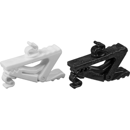 E6/E6i Cable Clips (set of one black and one white)- 2mm