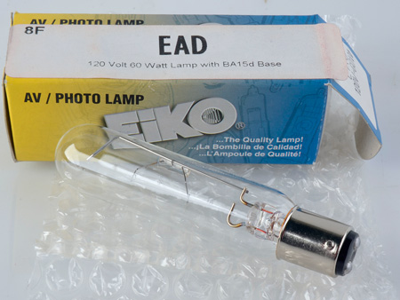 120 Volt 60 Watt Lamp with BA15d Base