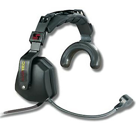 Eartec Single Muff Headset with 5-pin XLRM for RTS
