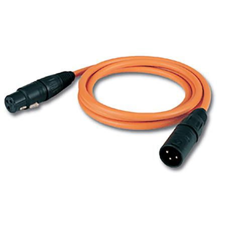 Canare Star Quad Mic Cable XLRM-XLRF - 50ft Orange