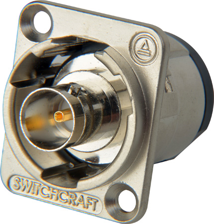 Switchcraft EHBNC2B Isolated 75 Ohm BNC Female Feedthru Jack - Black Finish