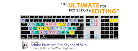 Editors Keys PR-AK-CC-2 Premiere iMac Wired Keyboard Cover