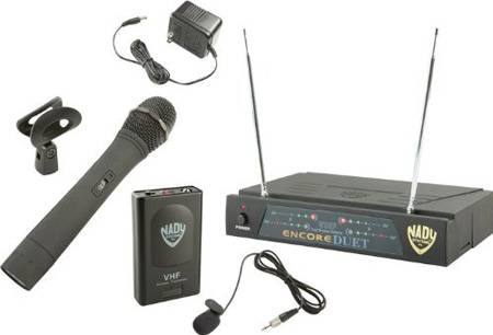 Nady Encore Duet HT/LT/O 2-Channel VHF Wireless Lavaliere/Hand Held Mic System