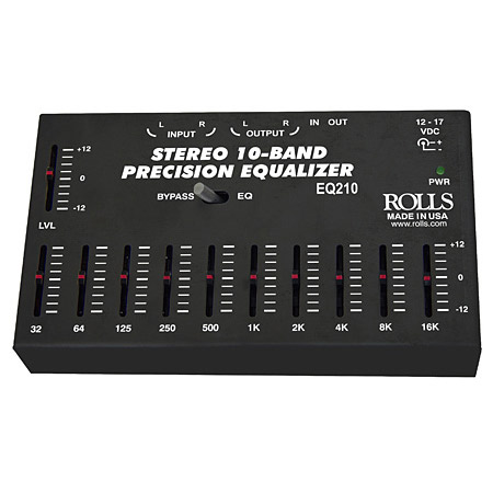 Rolls EQ210 10-Band Stereo Precision Equalizer