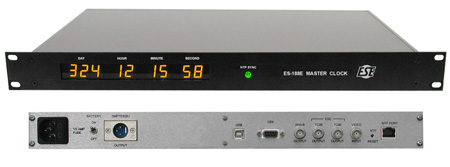 ESE ES-188E NTP Referenced Master Clock/Time Code Generator