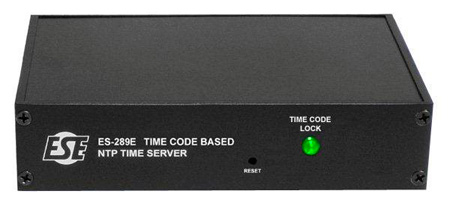 ESE ES-289E Time Code Based NTP Time Server