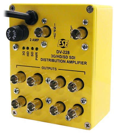 ESE DV-228 3G/HD/SD SDI Reclocking Distribution Amplifier 1x8