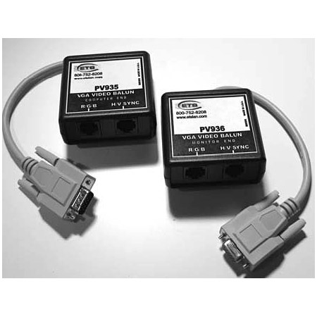 ETS PV934 VGA Video Balun Set (PV935 and PV936)