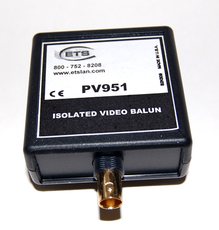 ETS PV951 Isolated Baseband Video Balun: FBNC to Screw Terminal