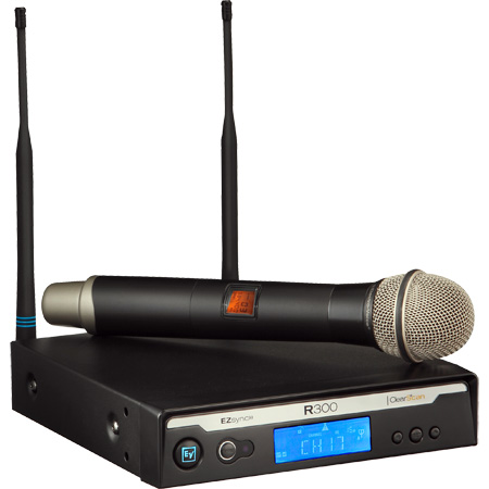 Electro-Voice Handheld Wireless Microphone System w/PL22 Dynamic 678-694 MHz