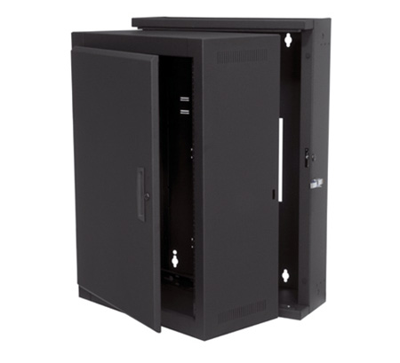 Middle Atlantic EWR-16-17SD EWR Series 10 Space 17 Deep Wall Mount Rack - Solid Door