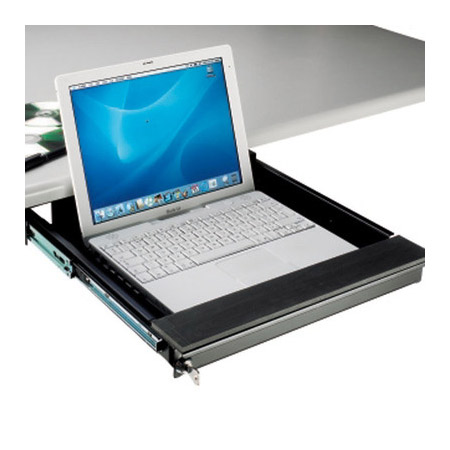 Locking Laptop Security Drawer For Under Desk Mount 75mm H x 338mm L x 450mm W
