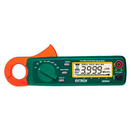 Extech 380942 30A True RMS AC/DC Mini Clamp Meter