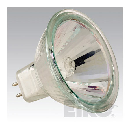 12 Volt 50 Watt Lamp with GU5.3 Base Faceted Reflector and Front Glass