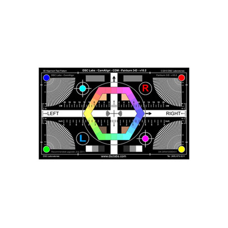DSC Labs XW64-F3D Fairburn 3-D Maxi 3D Calibration Chart 40 x 24 Inch