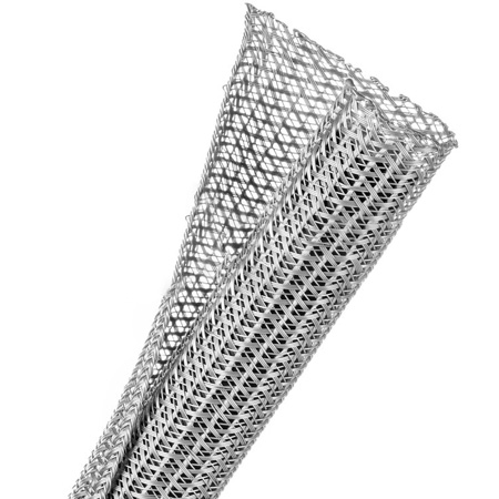 TechFlex - 1 Inch F6-Self Wrap Sleeving Platinum Grey 50 Feet