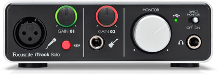 Focusrite iTrack Solo Audio Interface for iPad PC and Mac