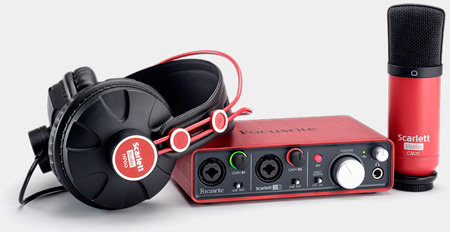 Focusrite Scarlett Studio Recording Package for Mac or PC