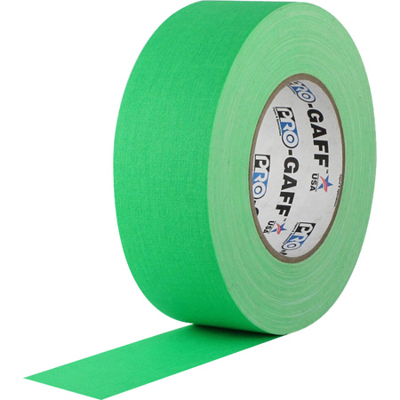 Gaffers Tape FGT4-50 4 Inch x 50 Yards - Fluorescent Green