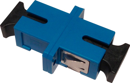 SC to SC Fiber Adapter Simplex Singlemode with Zirconia Sleeve & Plastic Flange
