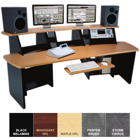 Omnirax Force 12 Audio Video Workstation Maple Formica