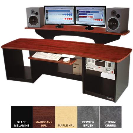 Omnirax Force 24 Audio Video Workstation (Mahogany Formica)